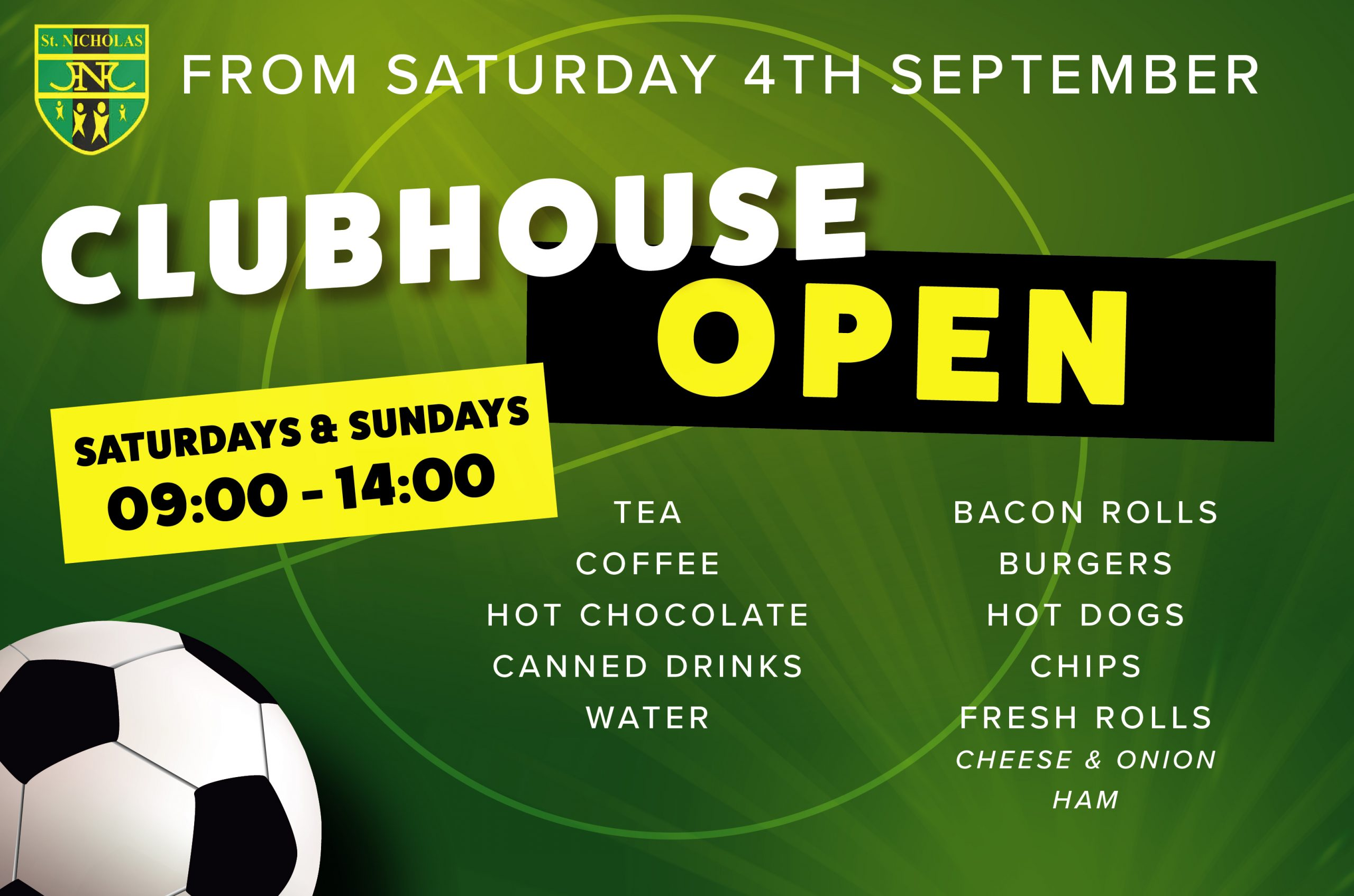 St Nicholas FC Clubhouse Open poster
